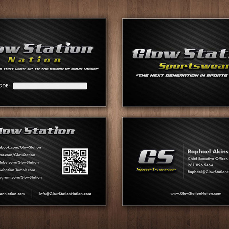 Glow Station Business Cards